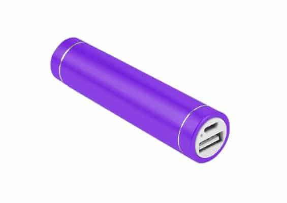 Cylinder Power Bank - USB SPOT - Power Bank Púrpura