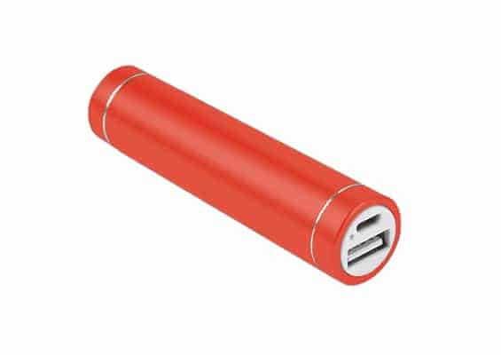 Cylinder Power Bank - USB SPOT - Power Bank Roja