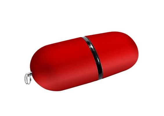 Capsule USB - Vermelho - USB SPOT- USB Pen Drive
