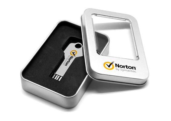 Metal Box - USB SPOT - Embalagem de Metal com janela para Pen Drive USB
