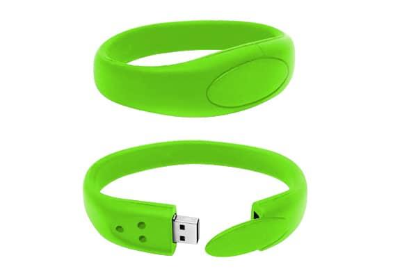 Bracelet USB - Verde - USB SPOT- USB Pen Drive