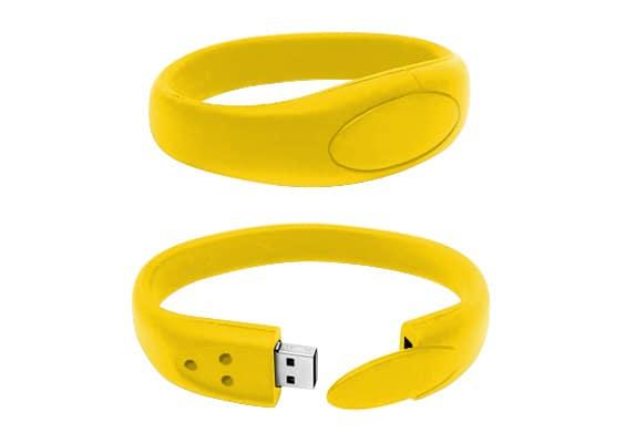 Bracelet USB - Amarelo - USB SPOT- USB Pen Drive