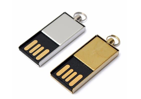 Temptation USB - Prateado e Dourado - USB SPOT- USB Pen Drive