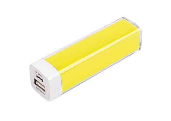 Yellow Plastic Power Bank - USB Spot - USB Power Bank