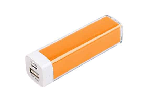 Orange Plastic Power Bank - USB Spot - USB Power Bank