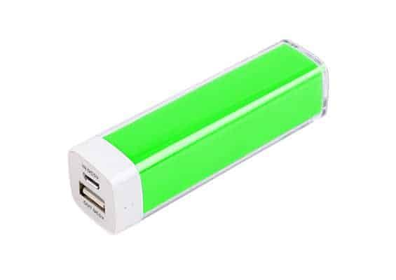 Green Plastic Power Bank - USB Spot - USB Power Bank