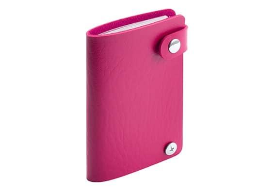 Brindes Personalizados - Porta- Cartões Spot Rosa