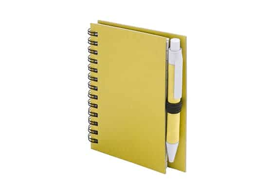 Customized gifts - Yellow Guelko notebook