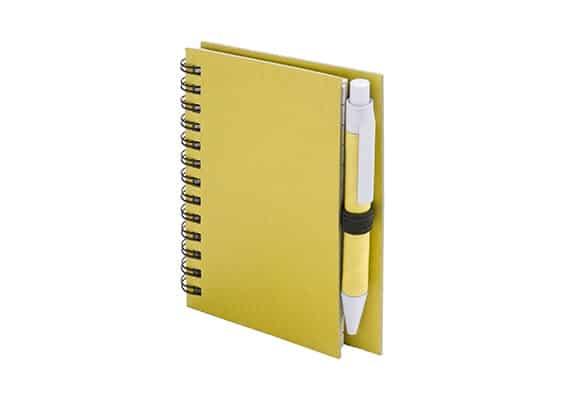 Brindes Personalizados - Caderno Guelko Amarelo