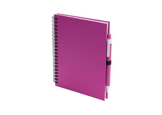Brindes Personalizados - Caderno Lufi Rosa