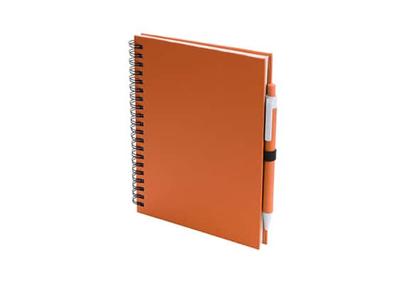 Brindes Personalizados - Caderno Lufi Laranja