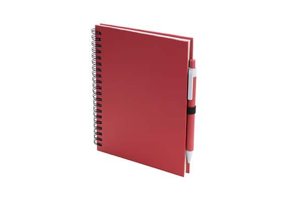 Brindes Personalizados - Caderno Lufi Vermelho