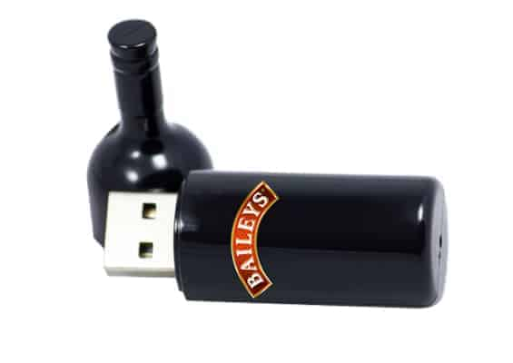 USB Bottled – USB SPOT Pen Drive Cinza - Preto
