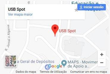 USB Spot - Localização - Morada