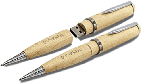Wooden Pen - USB Spot - Pen Drive USB