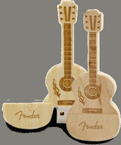 Wooden Guitar - USB Spot - Pen Drive USB